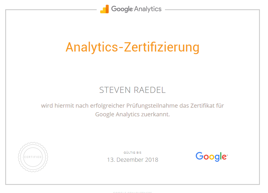 Analytics Steven Raedel