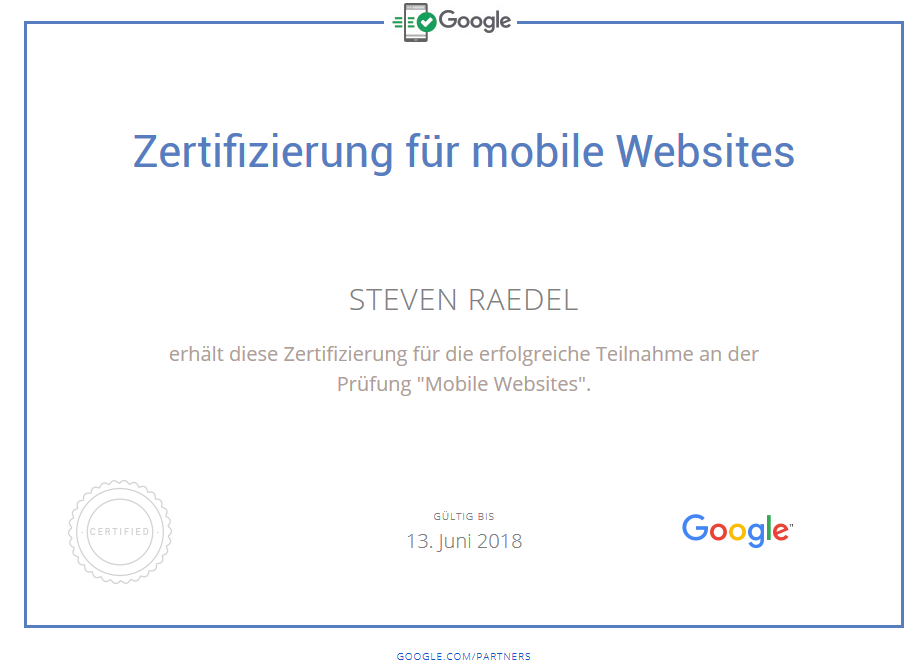 Mobile Websites Steven Raedel